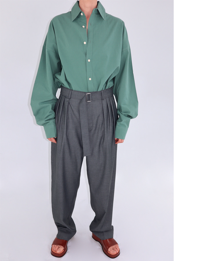 Unisex 3 tuck belt slacks (3 color)