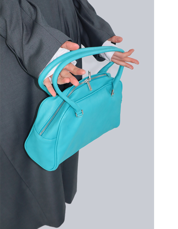 90'S SQUARE BAG (Aqua blue/Green)