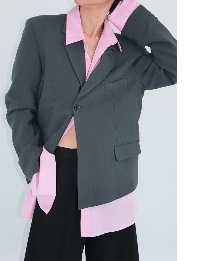Unisex double short jacket (2 color)
