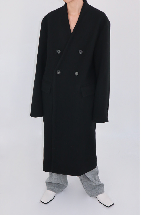 Unisex no collar coat