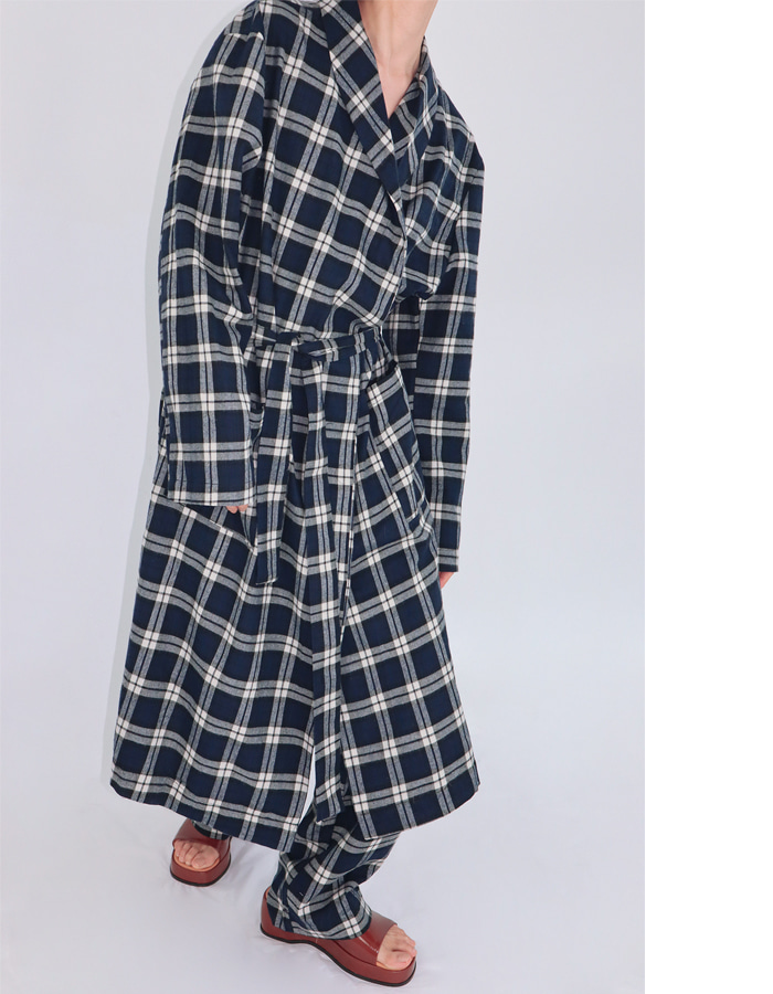 Unisex check robe set (2 color)