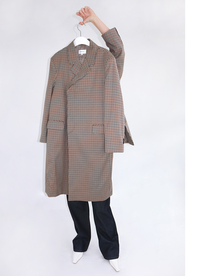 Unisex club check coat