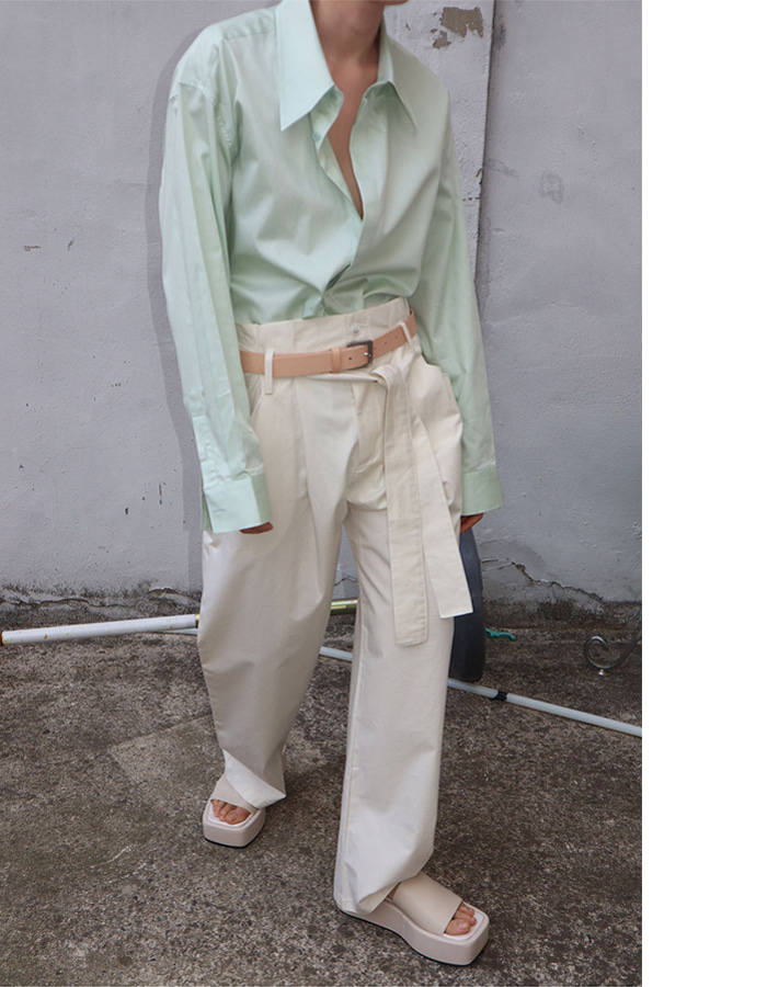 Unisex spring belted pants (3 color)