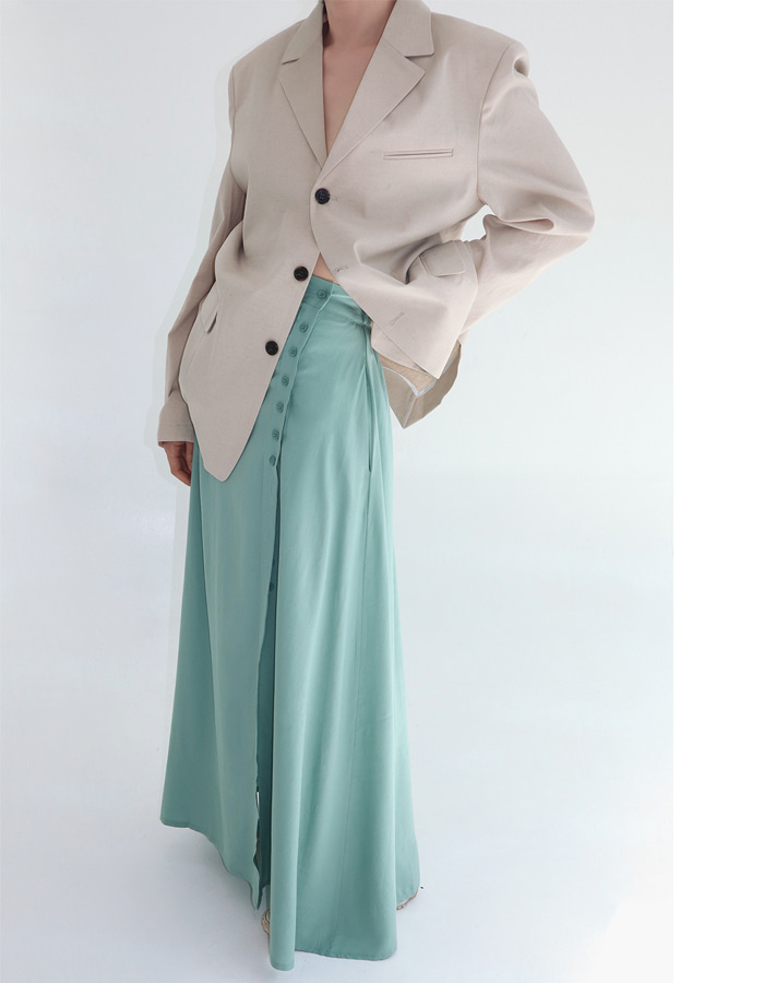 Button Open Skirt (2 Color)